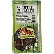 Cocktail 3 fruits (Amande,noisette déc,raisin golden jumbo/flame),CROQANDISE, sachet 250g