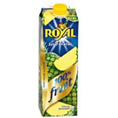 Jus d'ananas 100% fruit ROYAL, brique de 1l