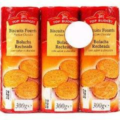Top Budget, Biscuits fourres parfum chocolat 3 x 300g,900g