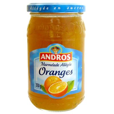 Andros confiture allegee oranges 350g