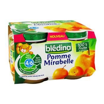 petits pots b 233 b 233 pomme mirabelle bl 233 dina tous les produits desserts aux fruits prixing