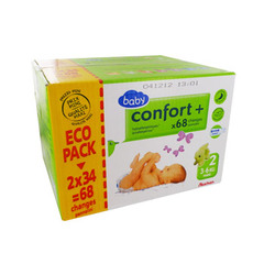 Confort + - Couches Ecopack T2 3 - 6 Kg