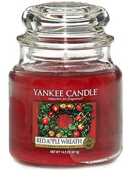 Yankee Candle 1120698 Bougie senteur Red Apple Wreath en jarre Rouge