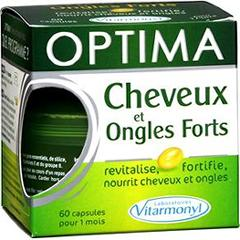 Complément alimentaire, cheveux et ongles forts - Optima