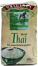Riz thai, riz naturellement parfume, qualite origines, le paquet, 500g