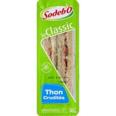 Sandwich pain complet thon crudites SODEBO, 145g