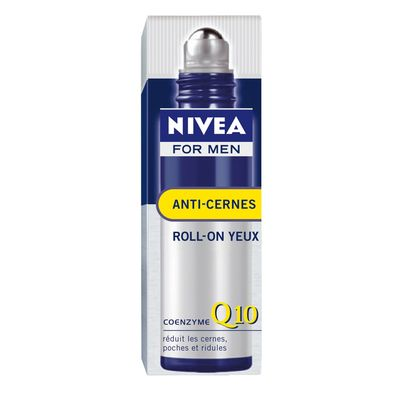 Soin anti-cernes Q10 NIVEA FOR MEN, roll-on de 10ml