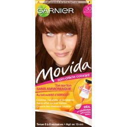 movida 30 soin creme colorant ton sur ton acajou sans ammoniaque durable 6 a 8 semaines la boite125ml - Coloration Ton Sur Ton