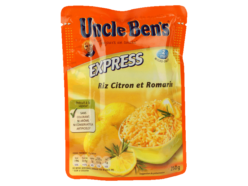 Uncle Ben's riz solution express 2mn citron/romarin 250g