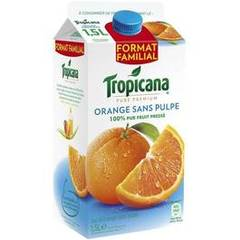Tropicana pure premium orange sans pulpe 1,5l
