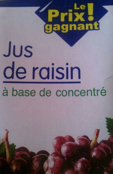 Jus de raisin ABC, 1l