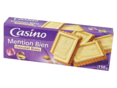 Biscuits mention bien chocolat blanc
