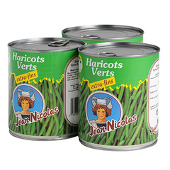 Haricots verts Jean Nicolas Extra fins 3x440g