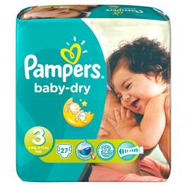 Couches Pampers Baby Dry T3 x27