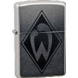 Zippo 27.1907 Cigarette Lighter with Werder Bremen Engraving Chrome Satin without Lighter Fluid