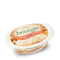 BOURSIN Tartine au lait pasteurise creation noix, 32,5%MG, 125g