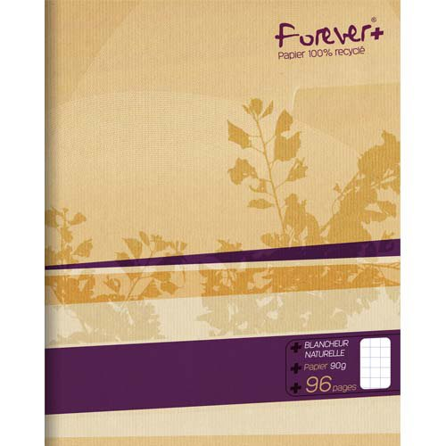 Cahier 24 x 32 cm grands carreaux Forever 100% recycle