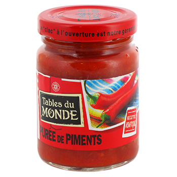 Puree de piment Tables du Monde 95g