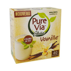 sticks stevia vanille x40 pure via 60g