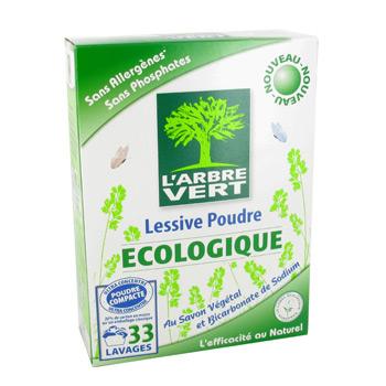 ecologique lessive en poudre au savon vegetal et bicarbonate de sodium sans allergenes sans. Black Bedroom Furniture Sets. Home Design Ideas
