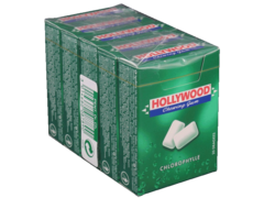 Chewing-gum a la chlorophylle HOLLYWOOD Regular dragees, 5x28g