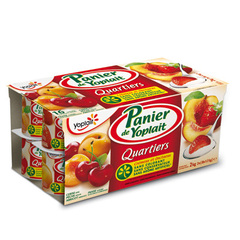 YAOURTS AUX FRUITS PANIER QUARTIERS FRUITS PANACHE 125GX16