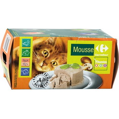 Assortiment de mousses pour chat