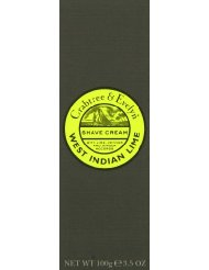 Crabtree & Evelyn Crème à Raser en Tube West Indian Lime 100 g