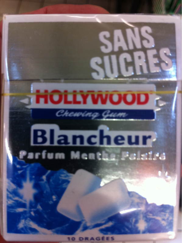 Hollywood blancheur chewing gum menthe polaire