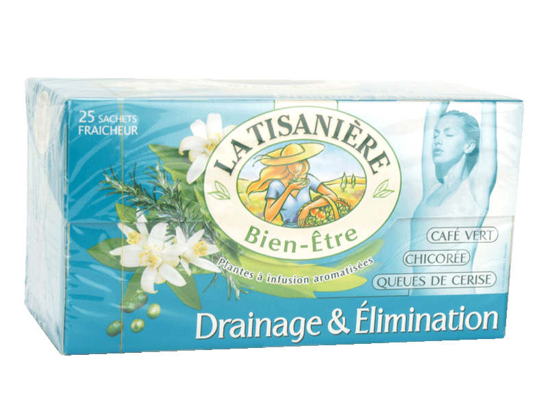 Infusion aromatisee, Drainage & Elimination, Bien-etre, les 25 sachets - 37,5g