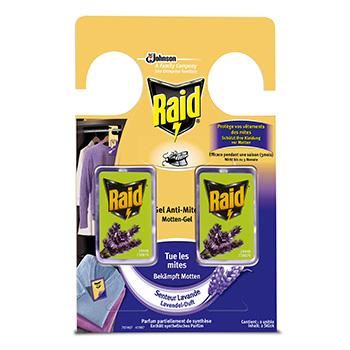 Raid gel anti mites senteur lavande x2 tous les produits for Produit anti mite