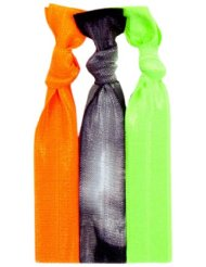 Twistband INDIO set 3 élastiquesneon orange, noir tie dye, neon vert