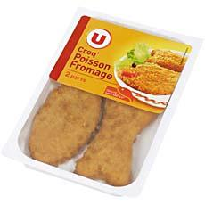 Pane de poisson a l'emmental U, 2 pieces, 180g