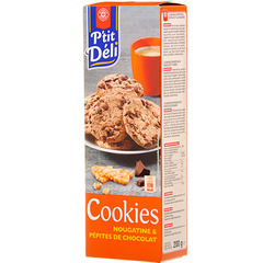 Biscuits P'tit Deli Cookies Chocolat nougatine 200g