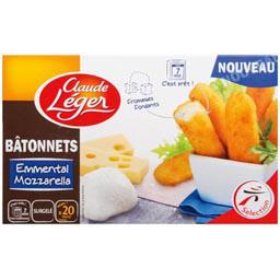 batonnet emmental mozzarella la boite de 20 400g tous les produits surgel s prixing. Black Bedroom Furniture Sets. Home Design Ideas