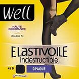 Collant élastivoile indestructible opaque WELL, noir, taille 4