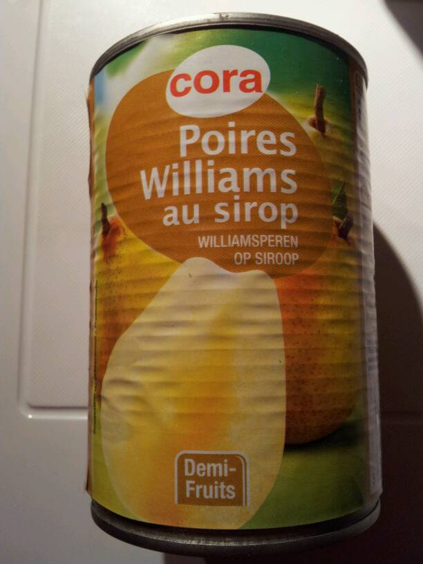 poires. williams au sirop 425g