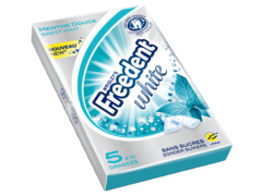 Freedent white multipack 5x10 dragees - menthe douce
