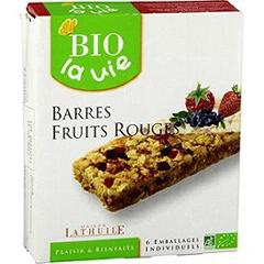Barres fruits rouges Bio La Vie
