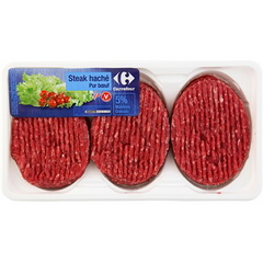 Steaks haches pur boeuf 5% MG