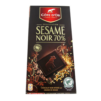 Tablette dégustation Côte d'Or Chocolat sésame 100g