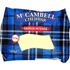 Fromage Cheddar mature Mc Cambell, saveur intense