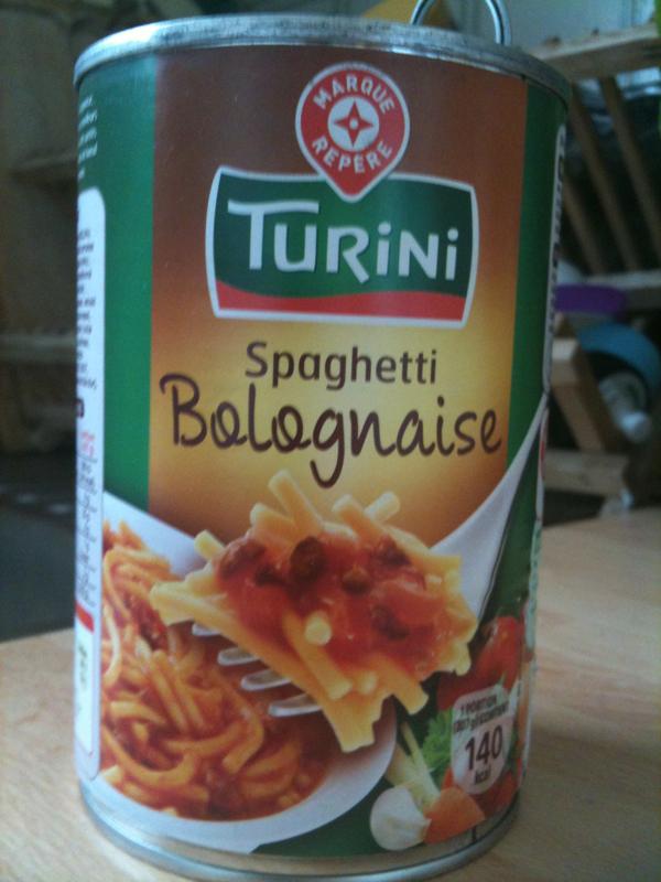 spaghetti turini pur boeuf a la bolognaise 415g tous les produits plats cuisin s en conserve. Black Bedroom Furniture Sets. Home Design Ideas