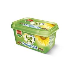 Fruit d'or, Margarine tartine et cuisson demi-sel, la barquette de 510 g