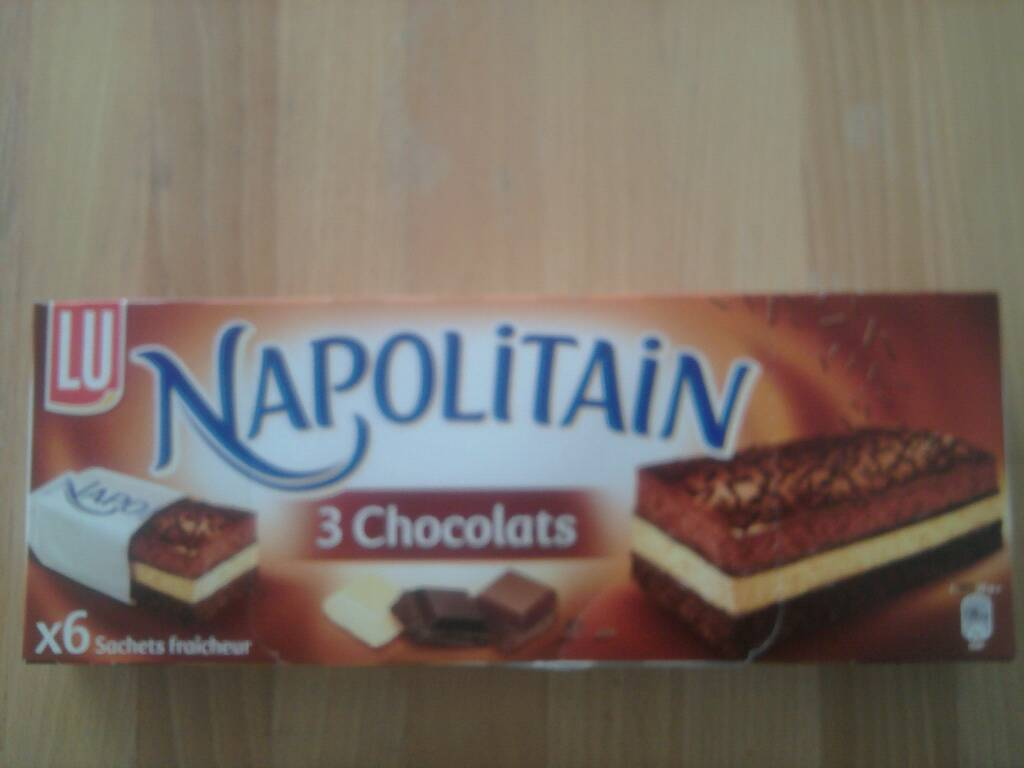 Lu napolitain 3 chocolats x6 - 174g