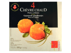 Fromages de chevre a dorer au lait pasteurise VALCREST, 20%MG, 4 pieces, 100g