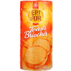 Toasts Brioches Epi D'Or x13 125g