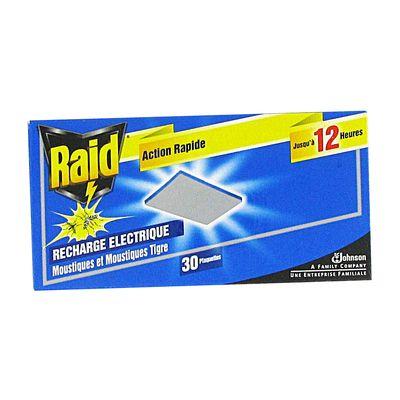 Raid recharge plaquette longue duree x30 nuits tous les - Raid anti moustique ...