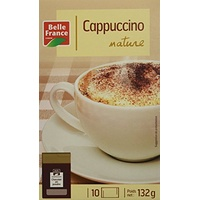 Belle France Cappuccino Nature 10 Dosettes 125 g - Lot de 5