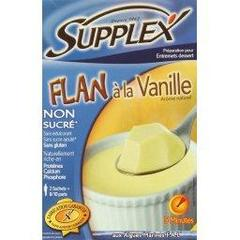 Flan vanille non sucre supplex 60 grammes